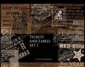 Tickets and Labels Photoshop brush