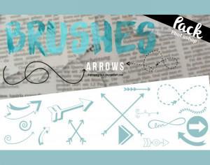 51 Arrows Brushes Photoshop brush