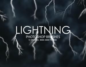 Free Lightning Photoshop Brushes Photoshop brush