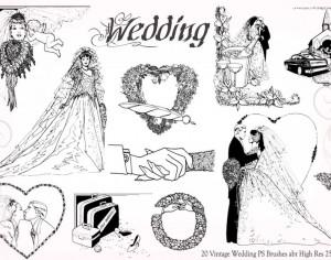 20 Vintage Wedding PS Brushes abr vol.6 Photoshop brush