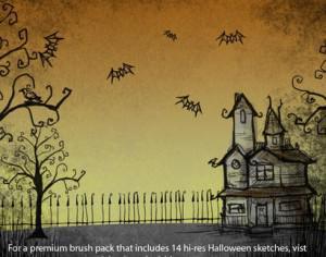 Halloween sketch brushes Photoshop brush