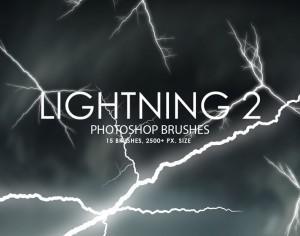Free Lightning Photoshop Brushes 2 Photoshop brush