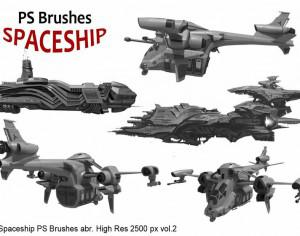 20 Spaceship PS Brushes abr. vol.2 Photoshop brush