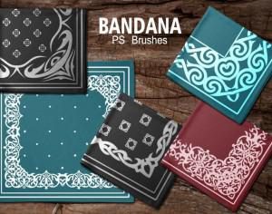 20 Bandana PS Brushes.abr vol.6 Photoshop brush