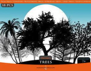 """Trees"" Promo Brush Pack Photoshop brush"