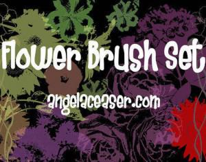 High Resolution Flower Brush Set Photoshop brush