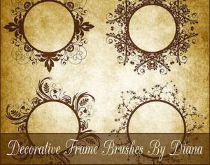 Decorative Swirl Frame Brushes Photoshop brush