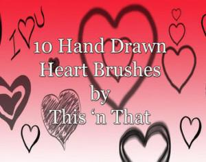 Hand Drawn Heart Brushes Photoshop brush