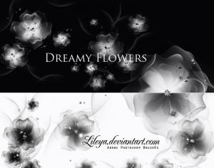 Dreamy Flowers Photoshop brush