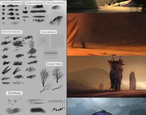 84 Painting Brushes Photoshop brush