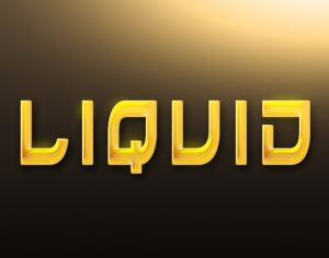 Liquid Gold Style Photoshop brush