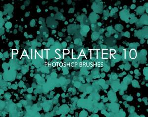 Free Paint Splatter Photoshop Brushes 10 Photoshop brush