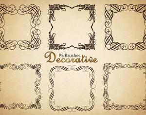 20 Decorative Border PS Brushes abr. Vol.4 Photoshop brush