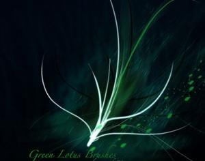Green Lotus Photoshop brush