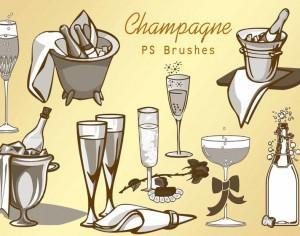 20 Champagne PS Brushes abr.vol.1 Photoshop brush