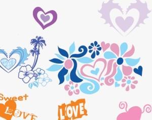 Beautiful Hearts Photoshop brush