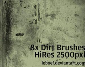 High Res Dirt Brush Set Photoshop brush