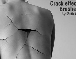 Crack Effect Brushes Photoshop brush