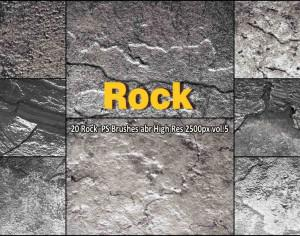 Rock Texture PS Brushes abr  vol.5 Photoshop brush