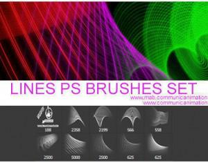 Lines Brushes Set Photoshop brush