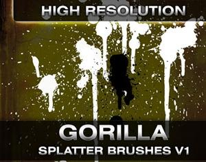 Gorilla Splatter Brushes Photoshop brush