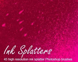 Ink Splatters Photoshop brush