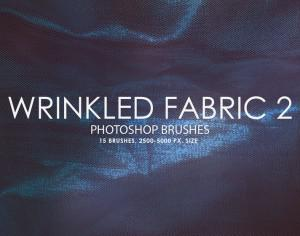 Free Wrinkled Fabric Photoshop Brushes 2 Photoshop brush