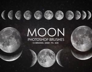 Free Moon Photoshop Brushes Photoshop brush