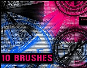 Tech Circle Brushes Photoshop brush