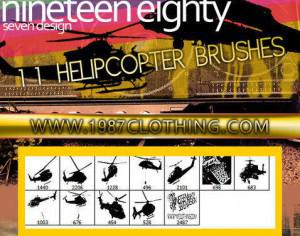 Helicopter Brush Set Photoshop brush