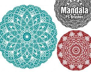 20 Mandala PS Brushes abr. vol.3 Photoshop brush