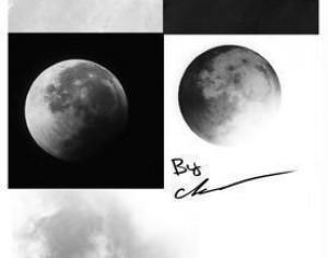 Moon Brush Collection from Photos Photoshop brush