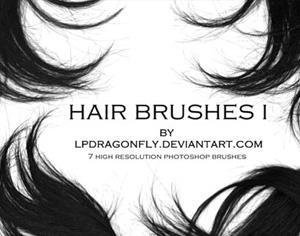Hair Brushes 1 Photoshop brush