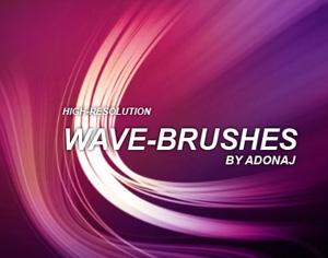 High-Res Wave Brushes Photoshop brush