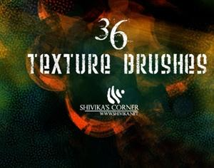 36 Texture Brushes Photoshop brush