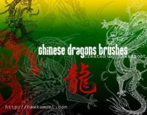 Chinese Dragons Brushes by hawksmont Photoshop brush