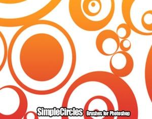 Simple Circles Photoshop brush