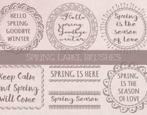 Spring Label Brushes Photoshop brush
