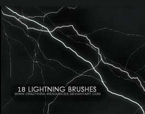Lightning Brushes Photoshop brush