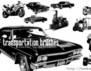 Transportation brushes Photoshop brush