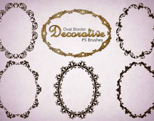 20 Decorative Oval PS Brushes abr. Vol.6 Photoshop brush