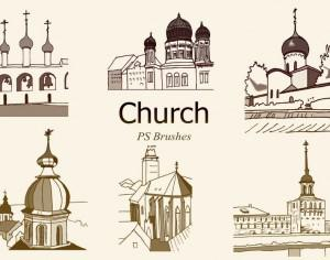 20 Church PS Brushes abr. vol.6 Photoshop brush