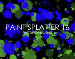 Free Paint Splatter Photoshop Brushes 16 Photoshop brush