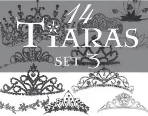 Tiaras brush set 3 Photoshop brush
