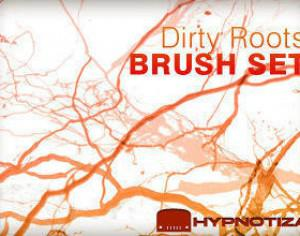 Dirty Roots Photoshop brush