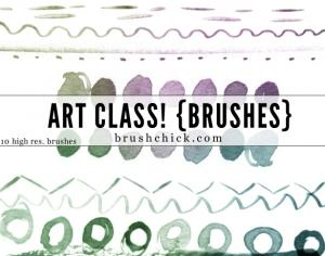 Art Class Line Photoshop brush