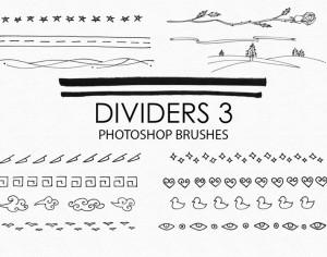 Free Hand Drawn Dividers Photoshop Brushes 3 Photoshop brush