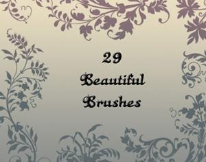 Ancient Floral Brushes Photoshop brush