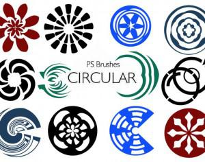 20 Circular PS Brushes abr. Vol.10 Photoshop brush