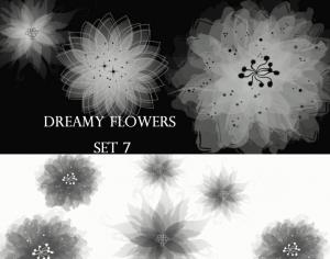 Dreamy Flowers set 7 Photoshop brush